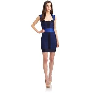 French Connection Color Block Bandage Dress